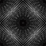 Black and white illusive abstract seamless pattern with overlapp. Ing shapes. Vector symmetric backdrop, kaleidoscope ornate Stock Images
