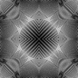 Black and white illusive abstract seamless pattern with overlapp Royalty Free Stock Photo