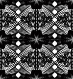 Black and white illusive abstract seamless pattern Stock Images