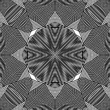 Black and white illusive abstract seamless pattern Stock Photos
