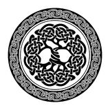Celtic Tree of Life. Black and white illustration of celtic tree of life, vector illustration royalty free illustration
