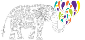 Black and white illustration for coloring book Stock Images