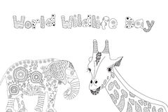 Black and white illustration for coloring book Stock Photos