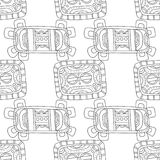 Black and white illustration for coloring book, page. Abstract decorative seamless pattern. Stock Image