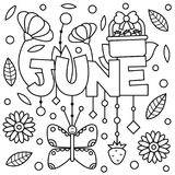 Black and white illustration. Coloring page. Black and white vector illustration. Coloring page. June Stock Images