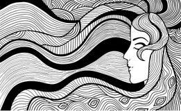 Black and white illustration Stock Image