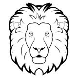 Black and white illustration of lion Royalty Free Stock Image