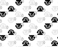 Telephone abstract. Black and white illustration of telephone abstract wallpaper Stock Photo