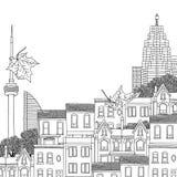 Black and white illustration of Toronto Royalty Free Stock Photos