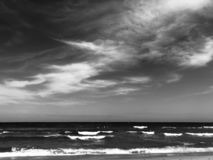 West Palm Beach Florida. A black and white image across the sea at West Palm Beach in Florida, USA stock images