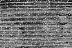 Black and white image of brick wall Royalty Free Stock Photos