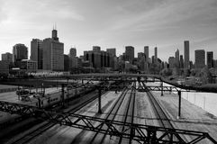 Black and White Image of Chicago Stock Photos