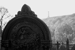 Gravestone in the North of England royalty free stock image