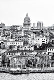 Black and white image of Havana Stock Images