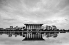 Black and white image, iconic mosque Masjid Tuanku Mizan Zainal Abidin or Masjid Besi Royalty Free Stock Photo