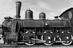 Steam Locomotive Monochrome Photo stock images