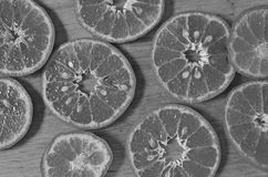 Black and white image of orange texture Royalty Free Stock Images