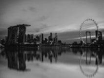 Black and white image of Singapore Skyline Royalty Free Stock Image