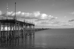 Black and White Image of Southend Pier, Essex, England Stock Photography