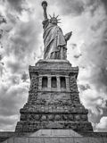 Black and white image of the Statue of Liberty in New York City Stock Images