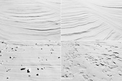 Snow erosion Royalty Free Stock Image