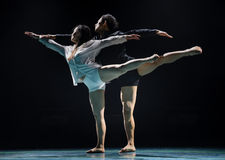 Black and white impermanence-Modern dance Stock Photos