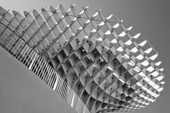 Black and white impression of Metropol Parasol Stock Photos