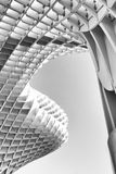 Black and white impression of Metropol Parasol in Seville Royalty Free Stock Photography