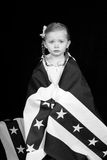 Black and White Independence Day Royalty Free Stock Images