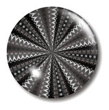 Black and white infinity button Stock Image
