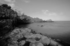 Black and White Infrared Ocean Royalty Free Stock Photos