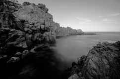 Black and White Infrared Ocean Stock Photography