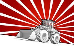 Black and white ink bulldozer pop art Stock Photo