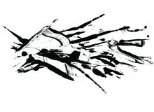 Black and white ink splat Royalty Free Stock Image