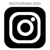 Instagram logo with vector Ai file. Squared Black & white. Black & White Instagram logo with vector Ai file. easily editable and have white background. high stock illustration