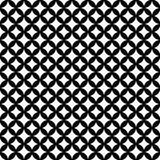 Black and White Interconnected Circles Tiles Pattern Repeat Back. Ground that is seamless and repeats Royalty Free Stock Photos