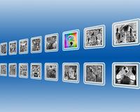 Black-and-white interface Royalty Free Stock Photography