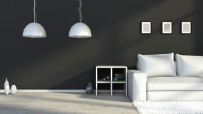 Black and white interior color Royalty Free Stock Photos