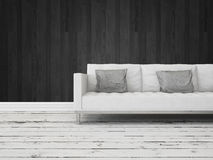 Black and white interior decor background Royalty Free Stock Photos