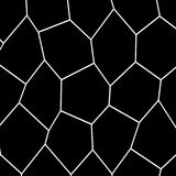 Black and White Irregular Mosaic Template. Black and White Irregular Grid, Modular Structure Mesh Pattern, Abstract Monochrome Geometric Polygon Texture, Photo Royalty Free Stock Photography