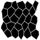 Black and White Irregular Grid. Modular Structure Mesh Pattern, Abstract Monochrome Geometric Polygon Texture, Photo Mosaic Template,  Photo Collage Background Stock Images