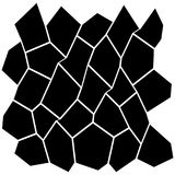 Black and White Irregular Grid. Modular Structure Mesh Pattern, Abstract Monochrome Geometric Polygon Texture, Photo Mosaic Template,  Photo Collage Background Royalty Free Stock Photo