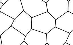 Black and White Irregular Mosaic Template Stock Image