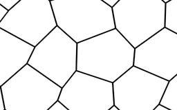 Black and White Irregular Mosaic Template Stock Image