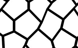 Black and White Irregular Mosaic Template Royalty Free Stock Photo