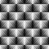 Black and white jagged edge seamless pattern Royalty Free Stock Images