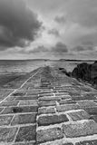 Black & white jetty Royalty Free Stock Images