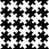 Black and white jigsaw puzzle mosaic seamless background Stock Image