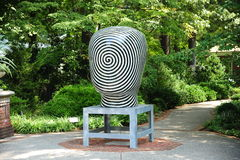 Jun Kaneko Ceramic Art Exhibit at the Dixon Gallery and Gardens in Memphis, Tennessee Stock Image