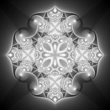 Black and White Kaleidoscope Royalty Free Stock Image